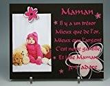 Cadre Photo Aimant pour Maman – (cadeau original pour la Fête des mères, Anniversaire, Noël, naissance...)