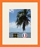 Cadre Photo avec Passe-Partout Cadre photo mural pour image 20x26 / 20 x 26 cm cadre Orange, 2 cm de ...