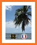 Cadre Photo avec Passe-Partout Super Blanc Cadre photo mural pour image 42x55 / 42 x 55 cm cadre Orange, 3 ...