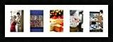 Cadres photos pêle mêle multivues 5 photo(s) 10x15 Passe Partout, Cadre photo mural 20x62 cm Noir, 3 cm de largeur