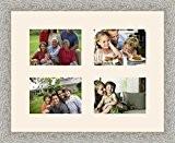Cadres photos pêle mêle multivues Chantilly 4 photo(s) 18x13 Passe Partout, Cadre photo mural 48x38 cm Taupe, 3.5 cm de ...