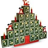 Calendrier de l'Avent en bois pour Noël