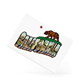 California Flag Vintage Style Bear Star San Francisco Los Angeles Magnet frigo en céramique