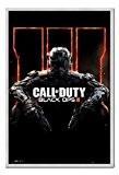 Call Of Duty Poster Black Ops 3broches en liège Tableau mémo argent encadrée–96,5x 66cm (environ 96,5x 66cm)