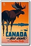 Canada For Big Game Travel Canadian Pacific - Vintage Travel Fridge Magnet - Aimant de réfrigérateur