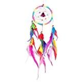 Capteur de rêves colorés créative accueil artisanat cadeaux pendentif plume voiture
