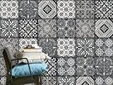 Carrelage adhésif mural - autocollant carreau ciment | Renouveler muraux de cuisine et salle de bain - Décoration pour intérieur ...