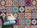 Carrelage adhésif mural | Autocollant pour décorer salle de bain et crédence cuisine | Stickers muraux carreaux en vinyl - ...