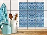 Carrelage adhésif mural | Film carreaux - Décoration pour mur salle de bain - renouveler faience cuisine | facile à ...