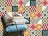 Carrelage mural adhésif - Vinyl autocollant | PVC Stickers pour carreau ciment - Déco carrelage salle de bain et cuisine ...