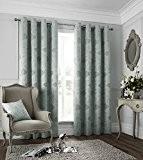 Catherine Lansfield 46 x 72 cm-Polyester Les Sites De Paris Rideaux Bleu canard