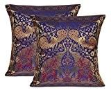 Chambre Art travail Design Éléphant indien brocart de soie Housse de coussin ...
