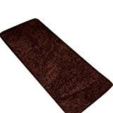 CHENGYANG Épais Tapis Shaggy Paillasson d'Entrée lavable et absorbant Tapis de passage tapis cuisine tailles diverses Marron 40cm x 120cm