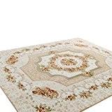 CHENGYANG Tapis de salon moderne Maison du Tapis Décoration de salle à manger Oriental Flora carpettes Kaki 120cm x 180cm