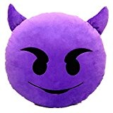 CITY 32mm Emoji Emoticônes Rire Rond Peluche Oreiller Coussin (Diable)