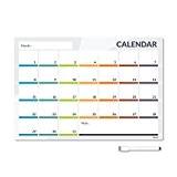 CKB Ltd® CALENDER Magnetic Fridge Board Tableau Mémo Magnétique Conseil Réfrigérateur Magnétique avec un marqueur Conseil White & Pen - ...