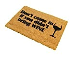 CKB Ltd® DON'T COME IN WITHOUT WINE Nouveauté DOORMAT Unique Paillasson Coco Naturel - Tapis D'entrée En Coco Casa En ...