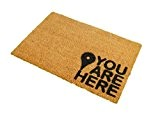 CKB Ltd® YOU ARE HERE Nouveauté DOORMAT Unique Paillasson Coco Naturel - Tapis D'entrée En Coco Casa En Couleur Nature ...