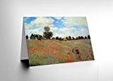 CLAUDE MONET LES COQUELIQUOTS OLD MASTER PAINTING BLANK GREETINGS CARD CL1041