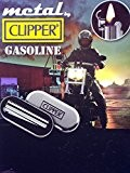 Clipper Metal Chrome Petrol / Oil / Gasoline Flip Lid Lighter In Gift Tin New by Clipper