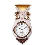 CNBBGJ Ange de l'horloge murale, lampe murale lumière nuit créative, calme grande table suspendue, simple salle de séjour, chambre à ...