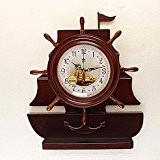 CNBBGJ Sail réveil, réveil quartz électronique, horloge à pendule, décoration créative de la mode, un salon de l'horloge d'ancrage, 20 ...