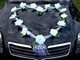 Cœur à bijoux en oRGANZA rose pour mariée de décoration voiture pour mariage décorations de mariage en forme guirlande de ...