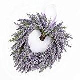 Cœur de lavande décoratif, violet, Ø 20 cm - Fleur artificielle lavande / Couronne décorative - artplants
