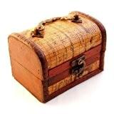 Coffre à décoration (avec revêtement en cuir de style antique empire coffret de rangement bijoux en bois ganzoo & petits ...