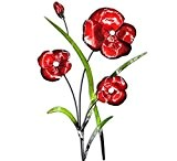Contemporary Red Poppy Bunch Metal Wall Art New by Red Poppy Bunch Metal Wall Art