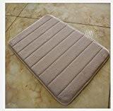 Corail cachemire de coton antidérapant absorbant Tapis lente rebond Tapis de cuisine de salle de bain de salle de bain ...