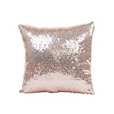 Couleur unie Paillettes Sequins Throw Pillow Housses de Coussin