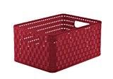 Country Panier de rangement Façon rotin Rouge rubis A5 Plus