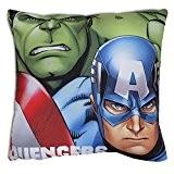 Coussin Avengers superhéros Marvel Hulk Captain America Iron Man Thor 37 x 38cm