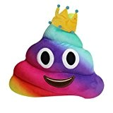 Coussin Caca, Yistu 20cm Amusant Emoji émoticônes Coussin Caca Forme Oreiller Poupée Jouet Cadeau (24 #)