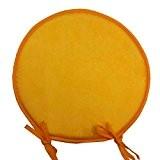 Coussin de chaise nelson rond uni jaune 40 cm