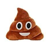 Coussin Emoji, Amison Caca Forme émoticône Oreiller NEUF 35*30cm (23*20cm #1)