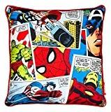 Coussin Marvel Comics Justice Hulk Captain America Iron Man Spiderman 40 x 40 cm