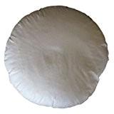 Coussin rond 50cm Coton avec garnissage 100% véritable naturelle Garnissage plumes, blanc, Einer