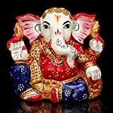craftvatika Rare Seigneur Ganesh statue ganesha Belle Bonne Chance Dieu Hindou Statues–coloré
