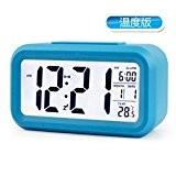 Creative Snooze Electronic Clock Température Version De L'écran Numérique Smart Clock Lazy Led Bedside Alarm Clock,Blue