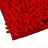 Culater® Doux Shaggy Non Slip Tapis de bain Absorbant Tapis de Douche de Salle de Bains Tapis (rouge)