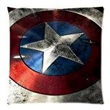 Custom The Avengers Captain America Shield Design Taie d'oreiller Housse Coussin Oreiller Couverture d'oreiller deux côtés Imprimé 18x 18