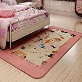 Cute cartoon enfants chambre lit tatami Tapis velours tapis couvertures bébé,90*185cm,Chaton rose