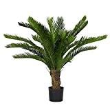 Cycus palmier vert–plante artificielle d'extérieur–résistant aux rayons U.V.–Haute 100cm–24feuilles