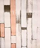 Dalles en bois style shabby poussin en plastique collant Film vinyle autocollant en PVC décoration