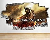 Dark Souls 233Smash vinyle Poster Salon Chambre Stickers Autocollant mural 3D Art, Large (90x52cm)