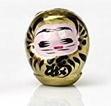 """Daruma doré: poupée japonaise porte-bonheur """"richesse et abondance"""""""