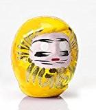 """Daruma jaune: poupée japonaise porte-bonheur """"sécurité et protection"""""""