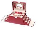 Davidt's Euclide Grande boîte à bijoux avec tiroirs latéraux Synthétique Rouge